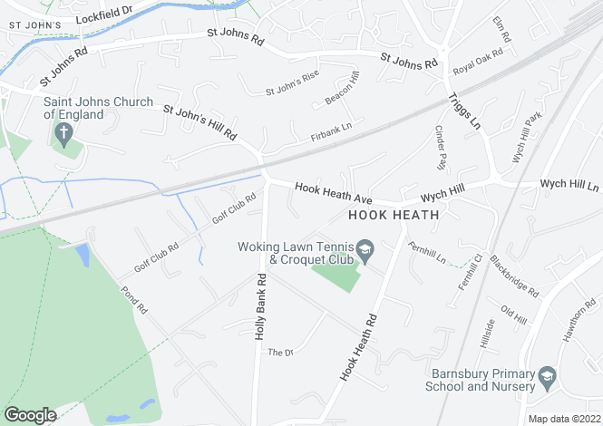 Map for Hook Heath