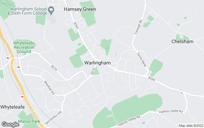 Map for Park & Bailey, Warlingham