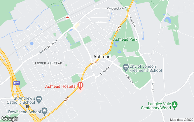 Map for Patrick Gardner, Ashtead