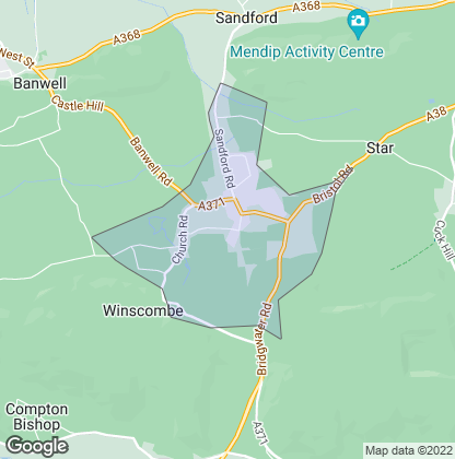 Map of property in Winscombe