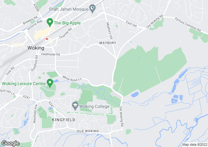 Map for Knowl Hill, The Hockering, Woking, Surrey