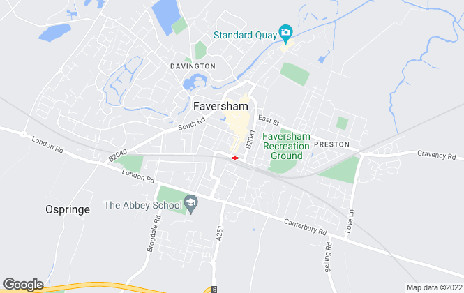 Map for Miles & Barr, Faversham