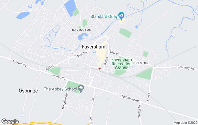 Map for W.H Breading & Son, Faversham