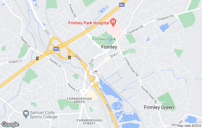 Map for Vickery , Frimley