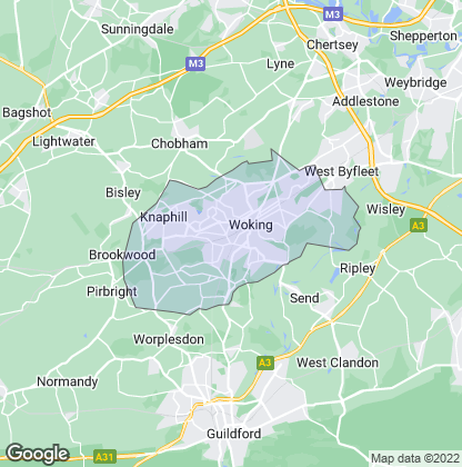 Map of property in Woking