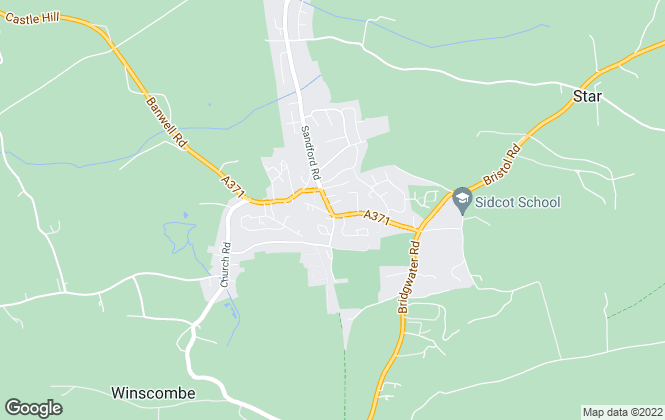 Map for M Mansfield Estate Agents, Winscombe