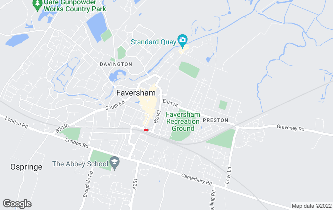 Map for Invicta Estate Agents, Faversham
