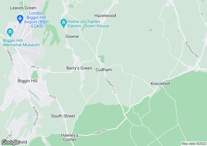 Map for Hawthorns, Cudham Lane South, Cudham, SEVENOAKS, TN14