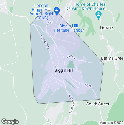 Map of property in Biggin Hill