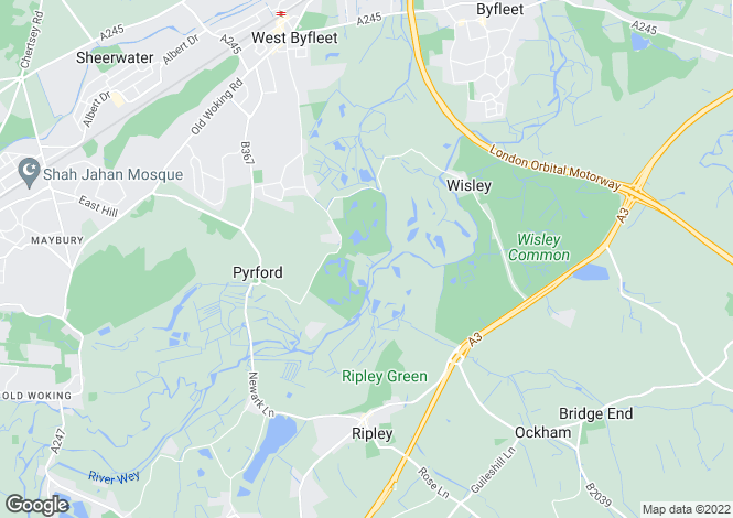 Map for Warren Lane, Pyrford, Surrey