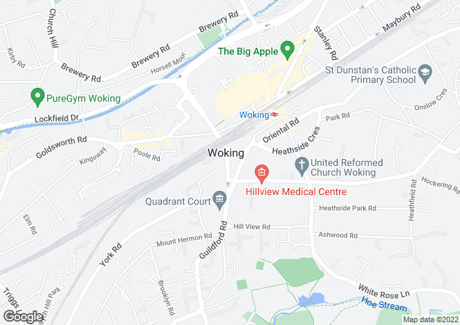 Map for 1 BED APARTMENT at New Central, Guildford Road,