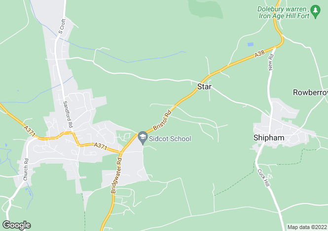 Map for Bristol Road, Sidcot