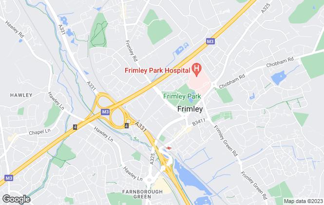 Map for Lesters Lettings, Farnham