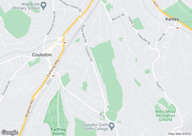 Map for Coulsdon Court Road, Coulsdon