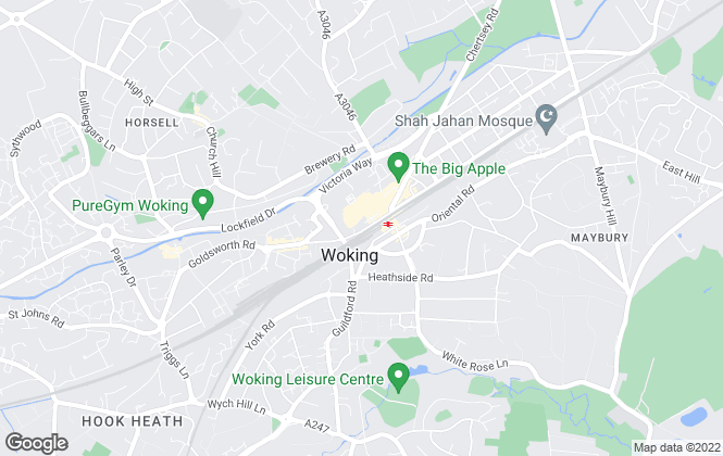 Map for The Letting Centre, Woking