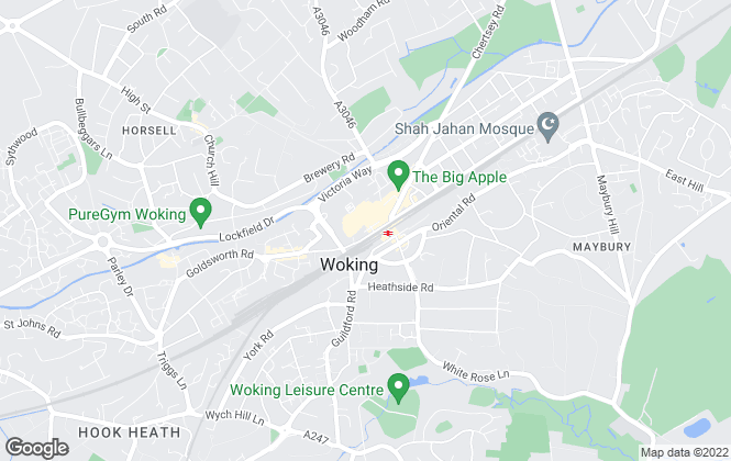 Map for Seymours Estate Agents, Woking Lettings