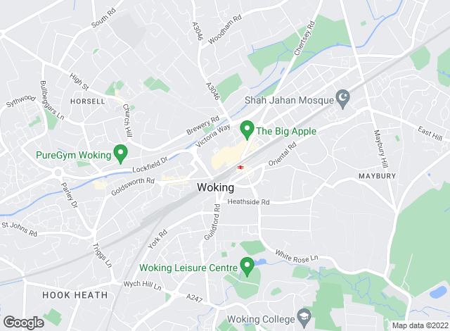 Map for Seymours Estate Agents, Woking