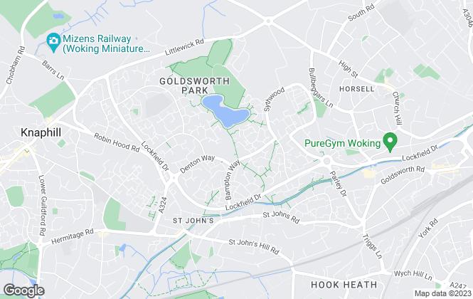 Map for Regents Estate Agents, Woking