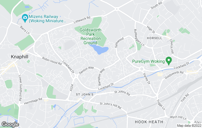 Map for Regents, Woking