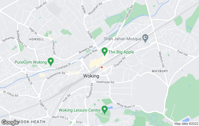 Map for Grosvenor Billinghurst, Woking
