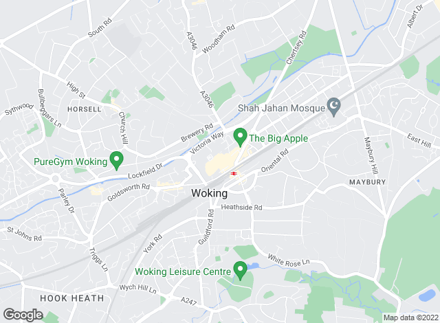 Map for Foxtons, Woking