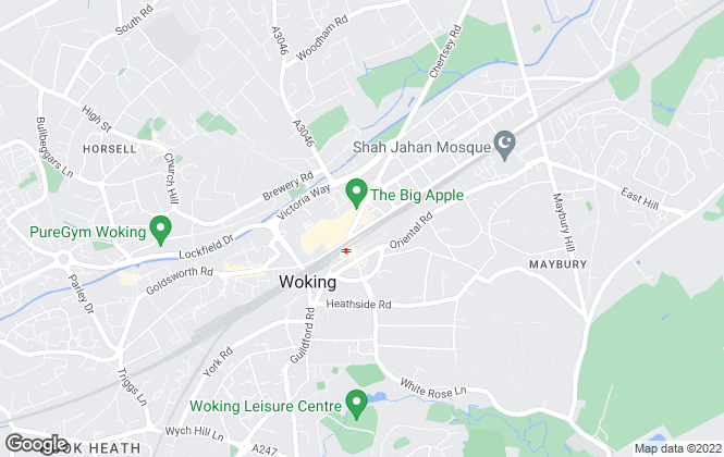 Map for Martin & Co, Woking