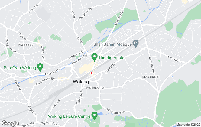 Map for DBRE, Woking