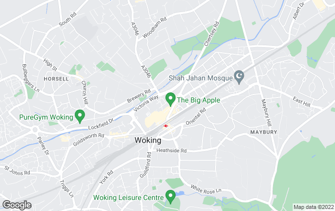 Map for Northwood, Woking