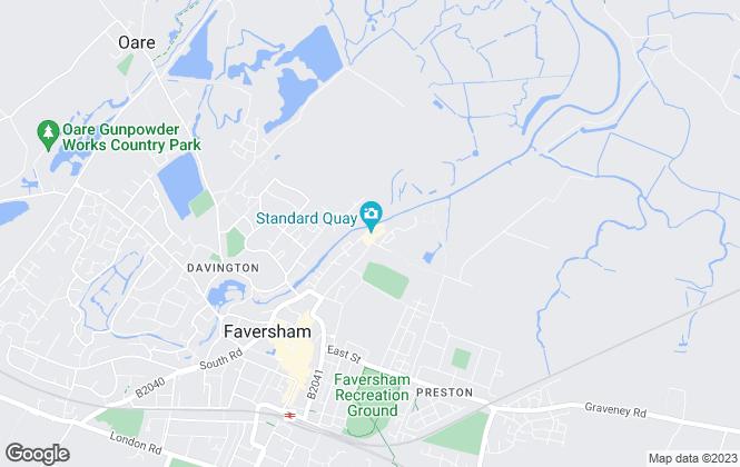 Map for Patrick Wayne Estates, Faversham