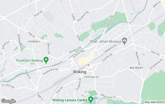 Map for Woking Borough Council, Woking
