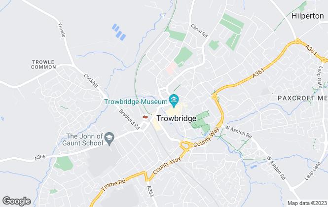 Map for Upsalls Property Management, Trowbridge