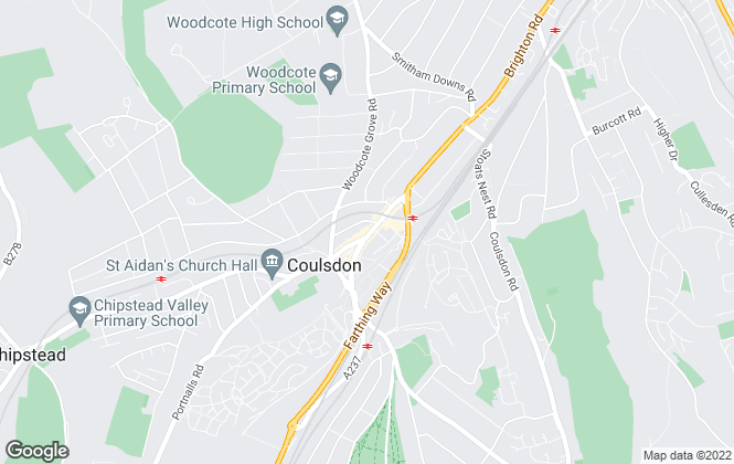 Map for Streets Ahead, Coulsdon