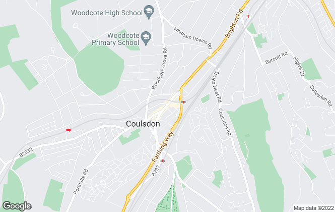 Map for Andrews Estate Agents, Coulsdon
