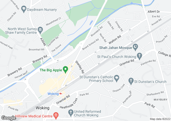 Map for WOKING WALTON ROAD