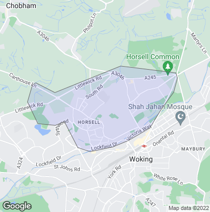 Map of property in Horsell