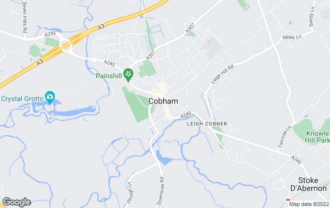 Map for Gascoigne-Pees Lettings, Cobham