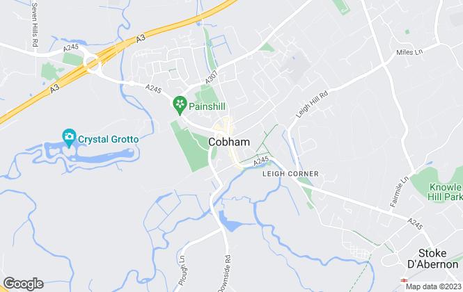 Map for Gascoigne-Pees , Cobham