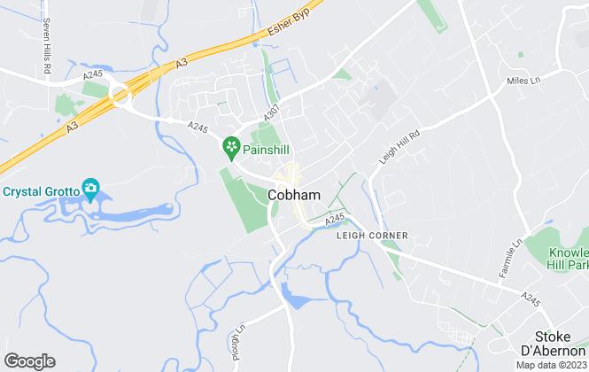 Map for Boyce Thornton, Cobham