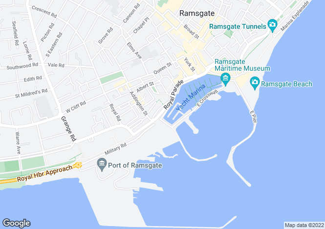 Map for Marina Esplanade, Ramsgate, Kent