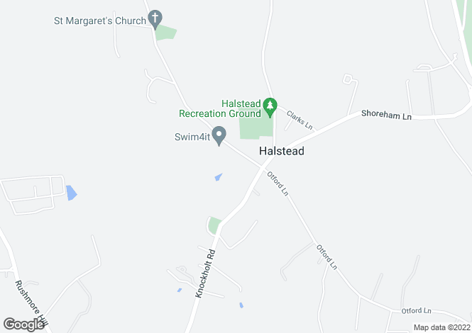 Map for Church Road, Halstead