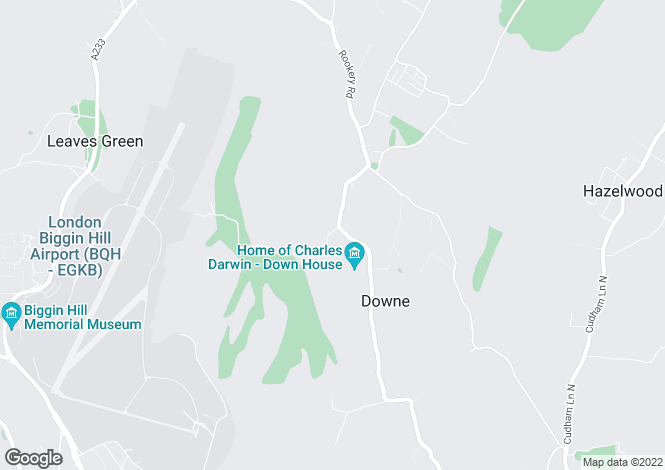 Map for Downe, Orpington, Kent, BR6