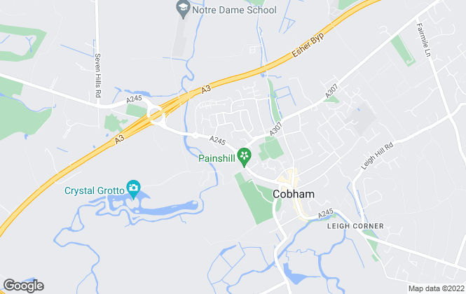 Map for APW Lettings, Cobham