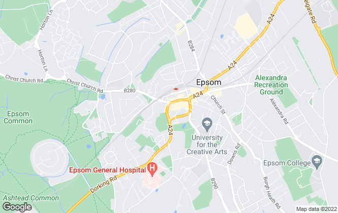 Map for Nicholls Residential, Epsom