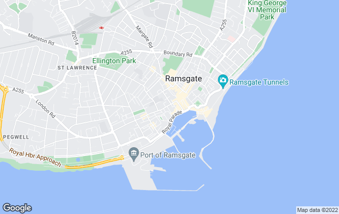 Map for YOUR MOVE, Ramsgate