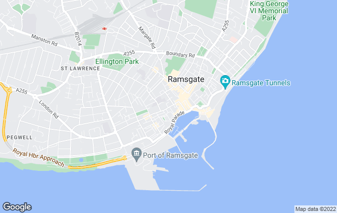 Map for Oakwood Homes, Ramsgate