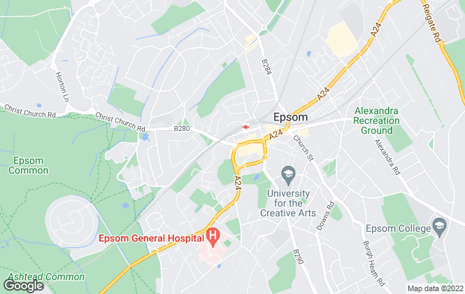 Map for Cairds The Estate Agents, Epsom - LETTINGS