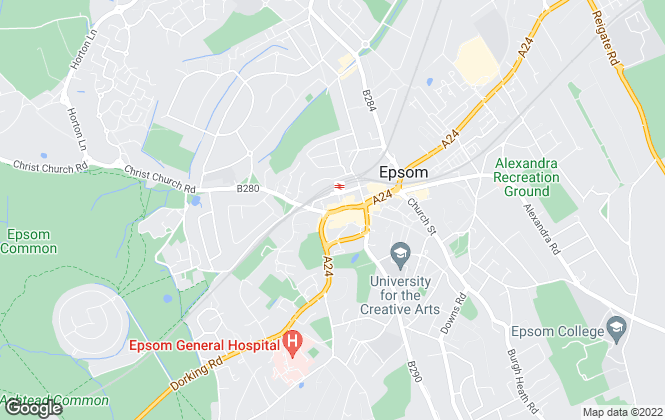 Map for Northwood, Epsom