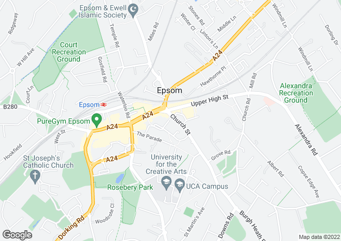 Map for Capitol Square, Epsom, KT17 4NP
