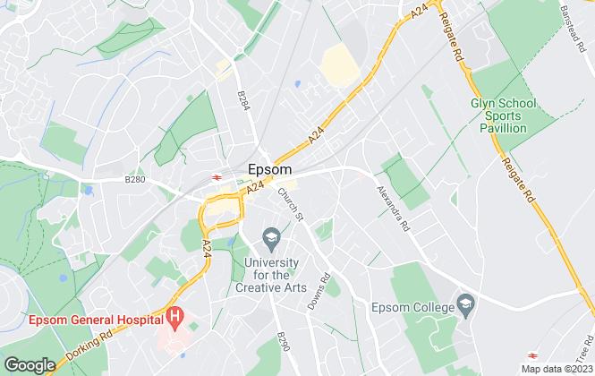 Map for Direct Residential , Epsom & Ashtead