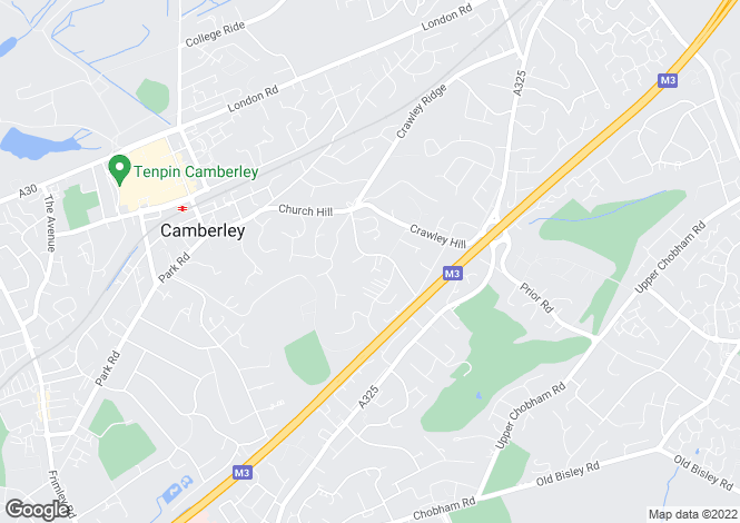 Map for Waverley Drive, Camberley